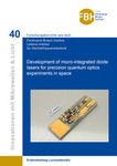 Development of micro-integrated diode lasers for precision quantum optics experiments in space