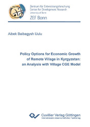 Policy Options for Economic Growth of Remote Village in Kyrgyzstan: an Analysis with Village CGE Model